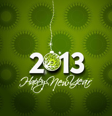 Happy new year 2013 celebration greeting card design.  Vector