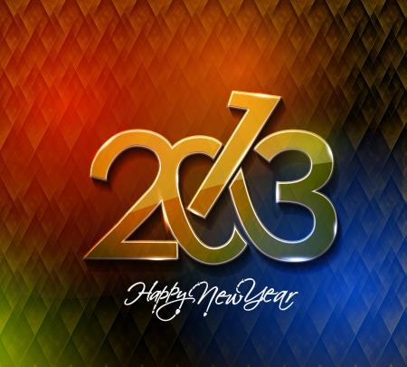 Happy new year 2013 celebration design. Stock Vector - 16818648