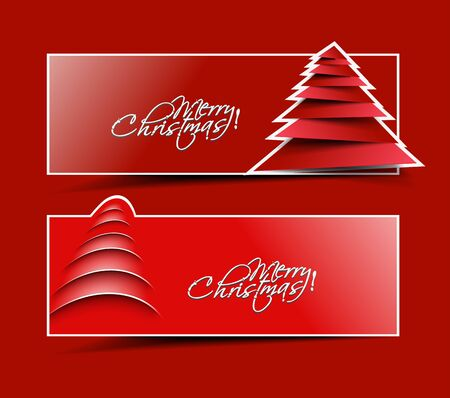 christmas website header and banner set of illustration design. Vector