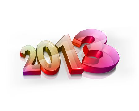 Happy new year 2013 celebration illustration design. Vector