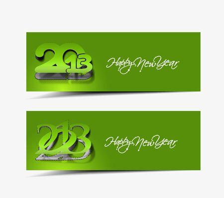 New year website header and banner set design Stock Vector - 16818509