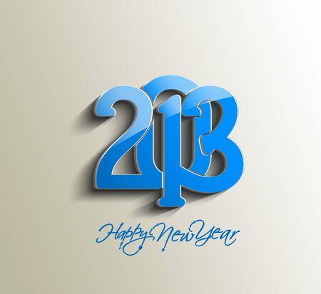Happy new year 2013 celebration design. Stock Vector - 16818830