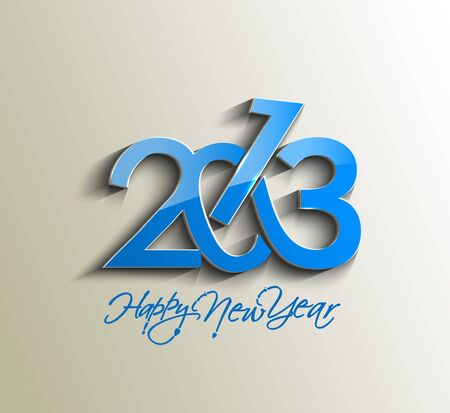 Happy new year 2013 celebration design. Stock Vector - 16818512