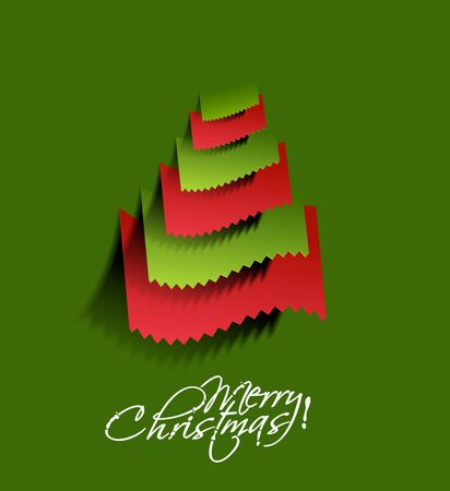 Modern christmas tree background illustration  Vector