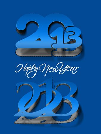 New year 2013 background for curl paper 2013 design.  Vector