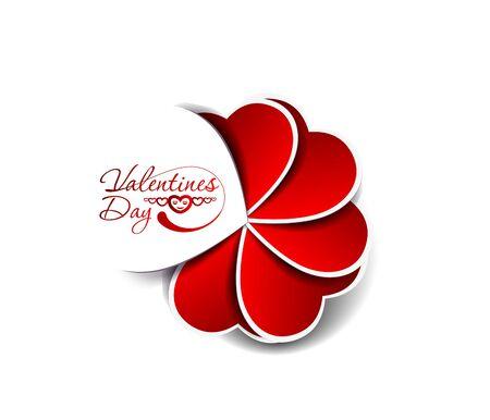 Día de San Valentín Corazón toque en el fondo blanco Foto de archivo - 18558463