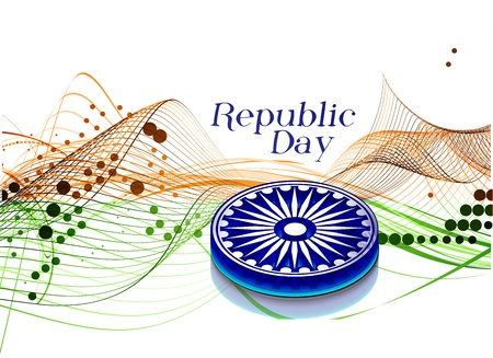 recollection: India flag with Event Original design, vector illustration  Illustration