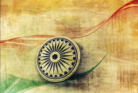 26th: India flag with Event Original design, vector illustration  Illustration