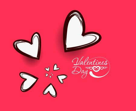 feelings and emotions: Holiday Valentin`s Day background with colorful hearts  Illustration