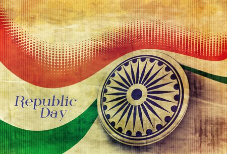 recollection: India flag with Event Original design illustration