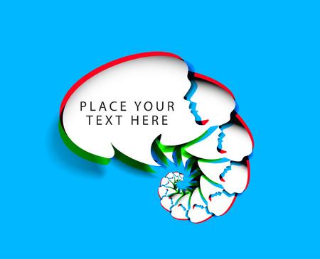 chat window: Chat messenger window icon vector illustration