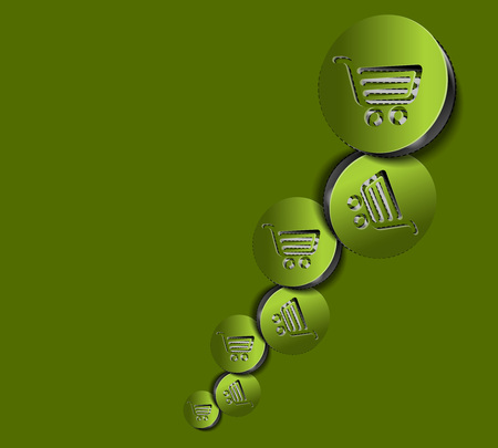 vector On-line shopping web icons Vector