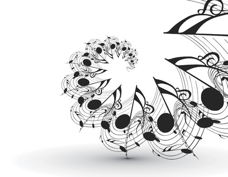 Abstract musical notes background for design use Vector