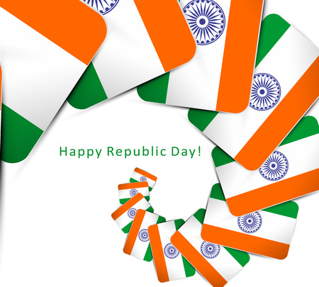 full day: Indian flag for Republic Day Illustration