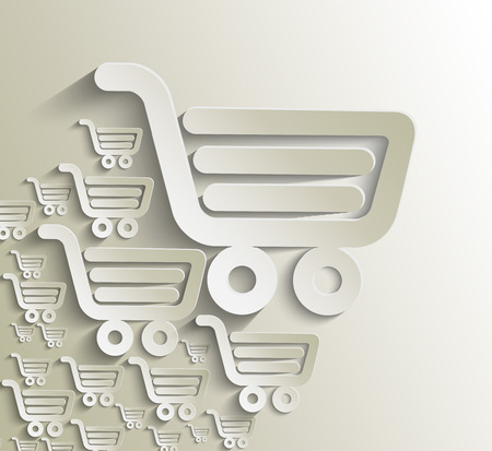 shopping cart icon, shopping basket design- vector illustration Illustration