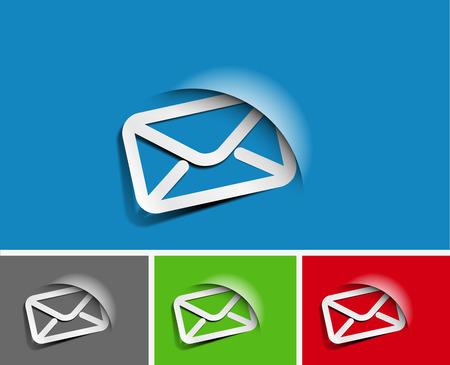 아이콘은 웹 메일 응용 프로그램, 이메일 아이콘 디자인을위한 설정 일러스트