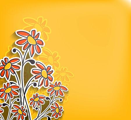 Floral background spring vector illustration design Vector