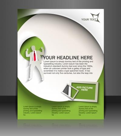 brochure layout: Global Business Flyer & Poster Template Illustration
