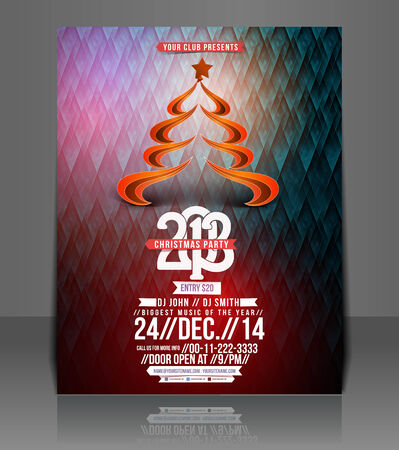 Christmas Party Flyer & Poster Template  Illustration