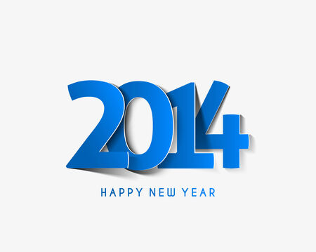 happy new year text: Happy New Year 2014 Text Design