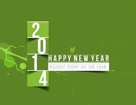 Happy New Year 2014 Text Design Stock Vector - 24102031