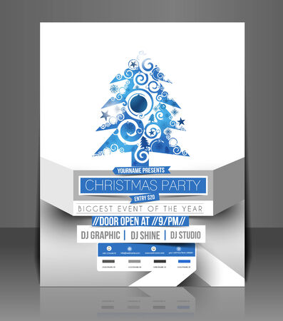 Christmas Party Flyer & Poster Cover Template Vector