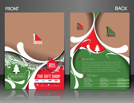 Gift Shop Flyer & Poster Cover Template  Vector
