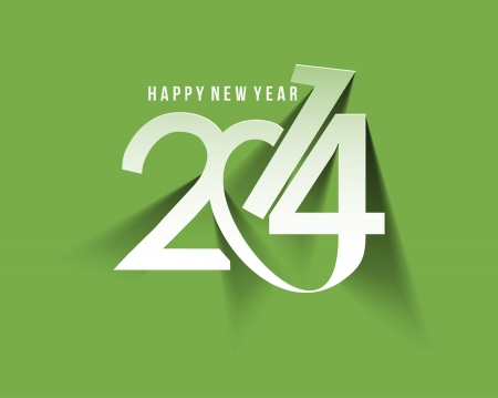 Happy New Year 2014 Text Design Stock Vector - 24190615