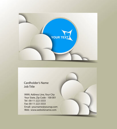 visiting card: Vector business card set , elements for design
