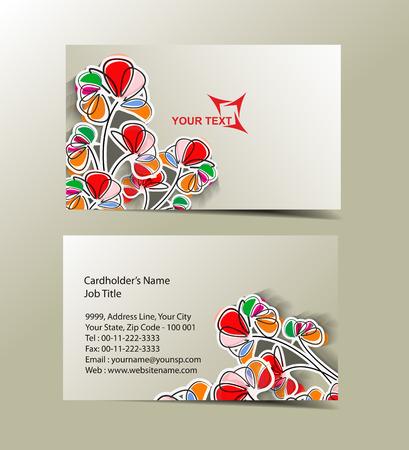 Vector business card set , elements for design