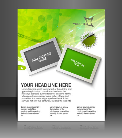 illustration editable: Global Business Flyer & Poster Template Illustration