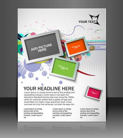 Global Business Flyer & Poster Template Illustration