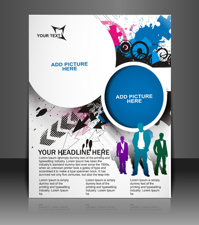 Global Business Flyer & Poster Template Vector