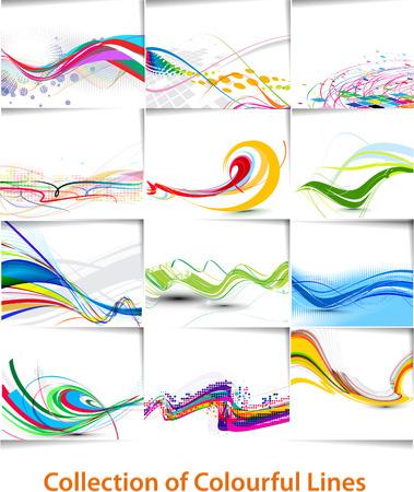 abstrakt: Abstrakte Welle Zeile Poster mit Raum für den Text. Illustration