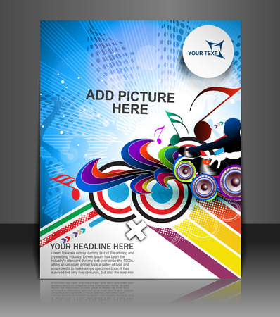 Music Party Flyer & Poster template  Illustration