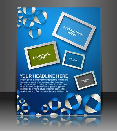 globális üzleti: Global Business Flyer & Poster Template Illusztráció