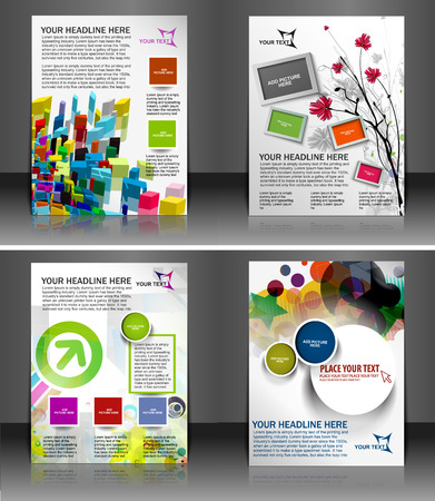 Global Business Flyer & Poster Template Ilustracja