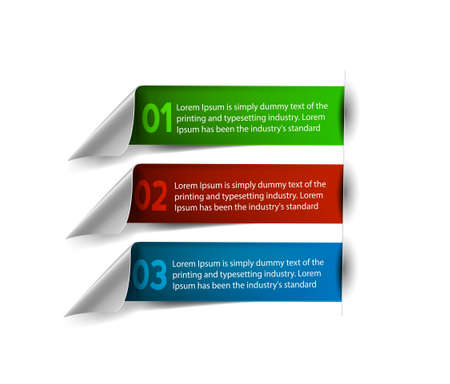 Vector Information Banner Design Element Vector