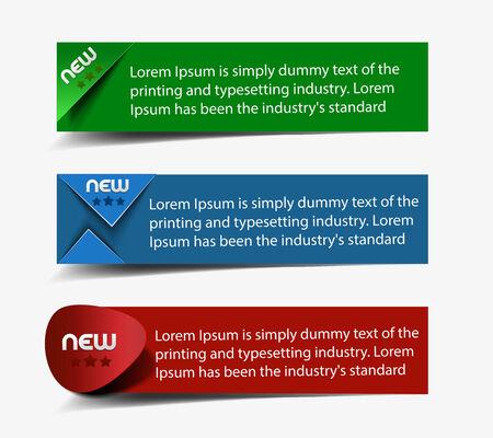 Vector Information Banner Design Element Vector