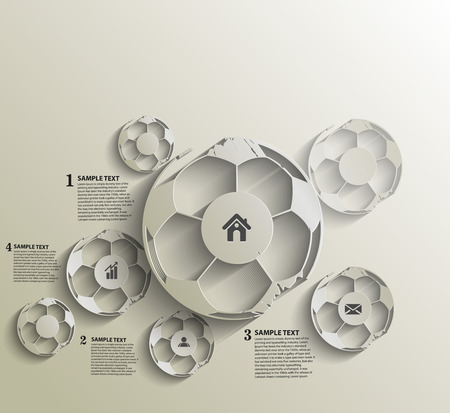 abstract footballs Infographics design Vector