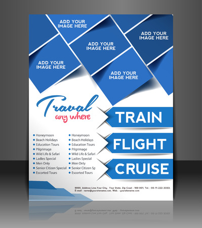 flyer layout: Travel Flyer, Magazine Cover & Poster Template