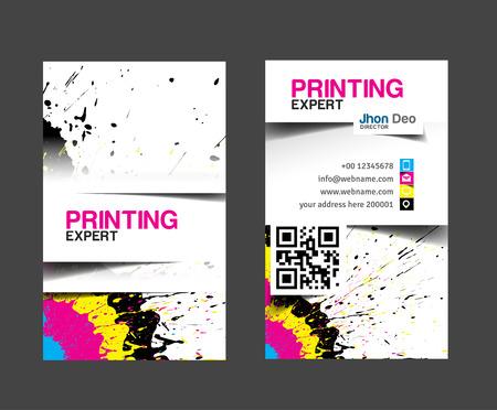 Establece Cmyk tarjeta de negocio de impresión. Foto de archivo - 26483334