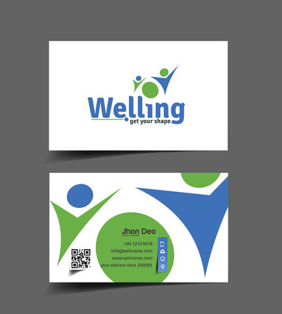 welling: Health Care Business Card Vector Design