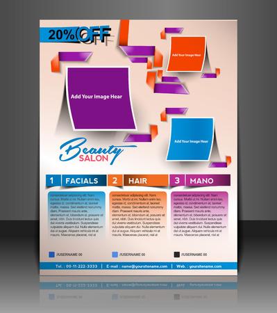 coworker banner: Salon Flyer & Poster Template Design