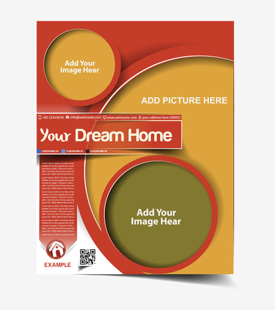 real people: Real Estate Flyer & Poster Cover Design Illustration