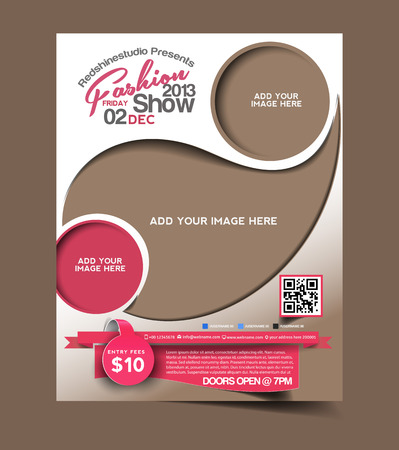 Fashion Flyer & Poster Template Design Stock Illustratie