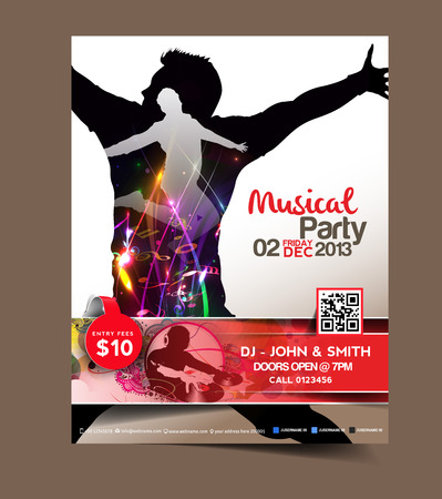 party flyer: Music Party Flyer & Poster Template Design