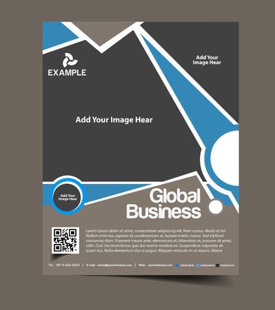 brochure layout: Global Business Flyer & Poster Template Design
