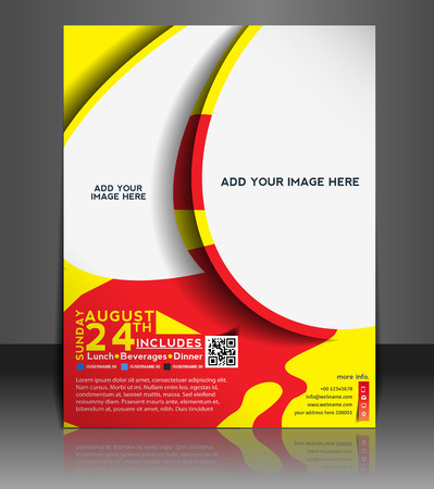 brochure layout: Football Competition Flyer & Poster Template Design
