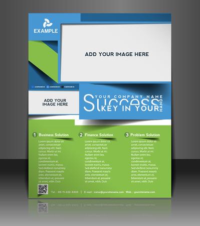 Global Business Flyer & Poster Template Design Vector